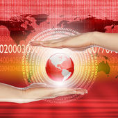 illustrazione di tecnologia globale