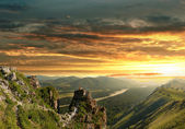 Fotografie Sunset in the Altai Mountains