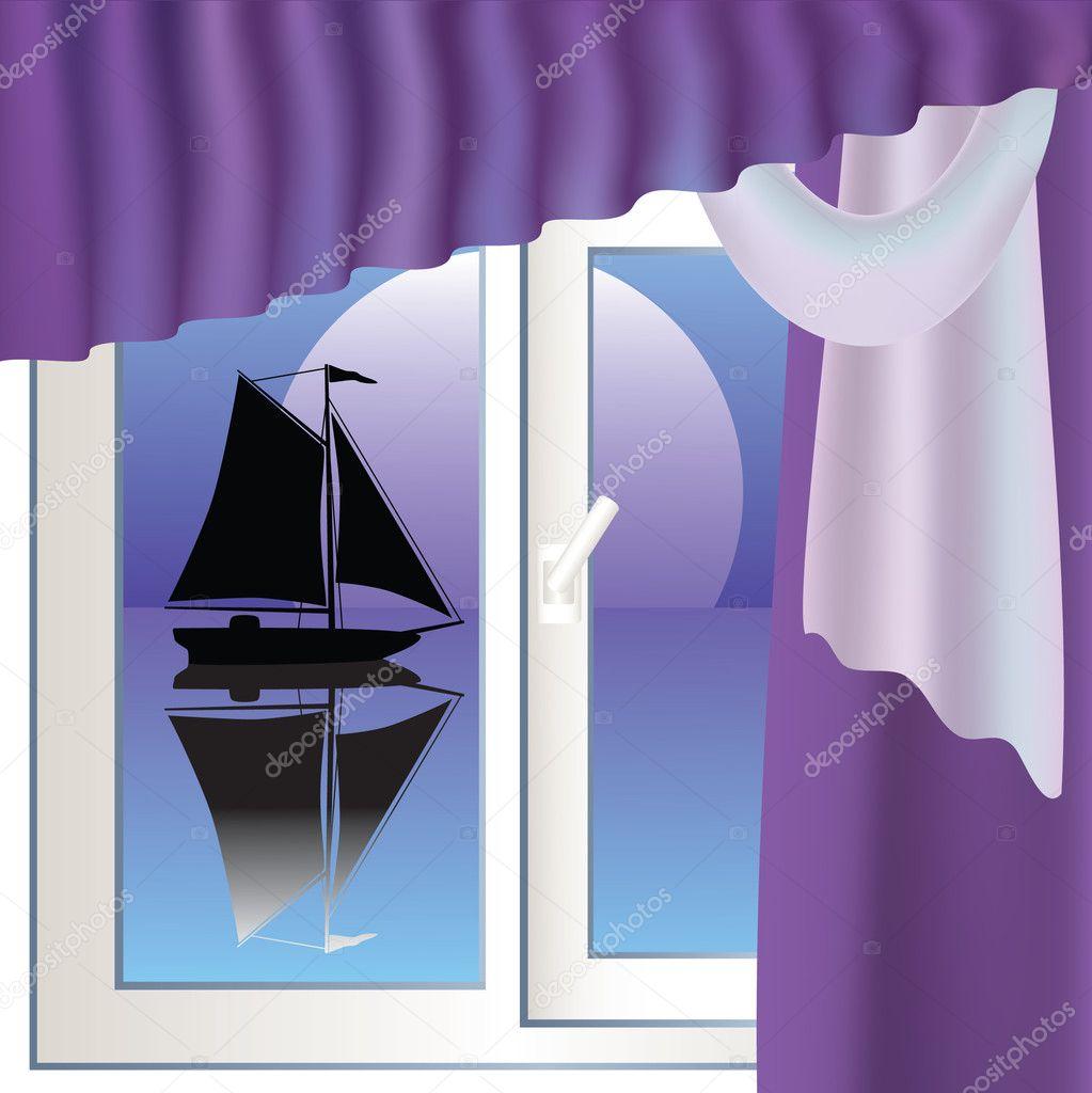 Sailboat and window.