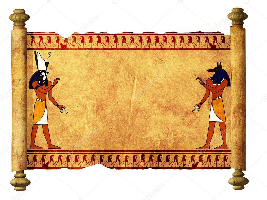 anubis and horus stock photo  u00a9 frenta 3394431 scroll clipart free scroll clipart