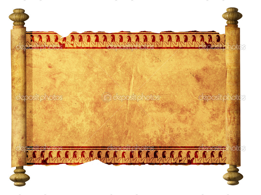 Scroll with Egyptian images — Stock Photo © frenta #3404621