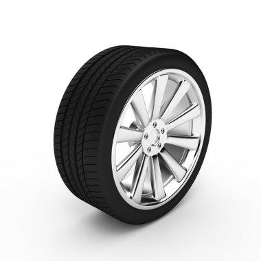 Aluminum wheel with tires