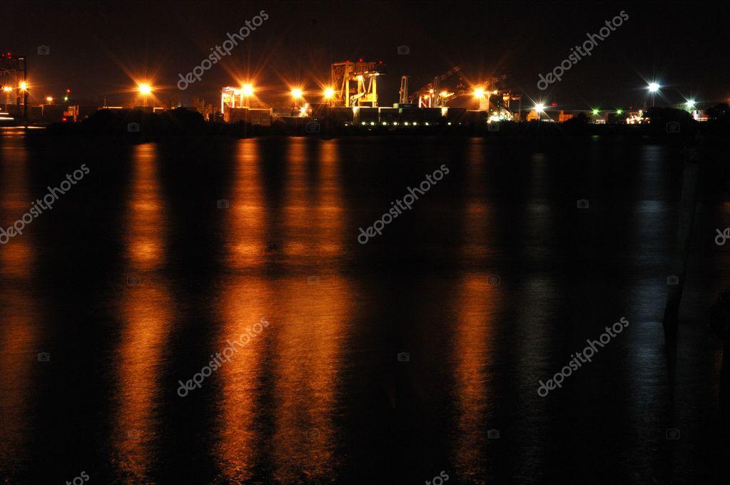 Cochin port at night,South India