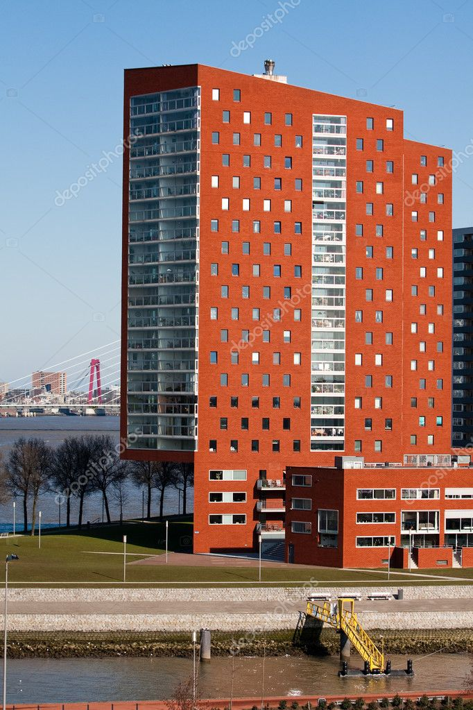 Dutch modern architecture in city of Rottardam, The Netherlands  Photo by  pkirillov