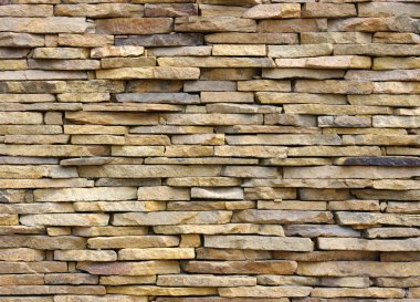 The stone wall from sandstone stock vector