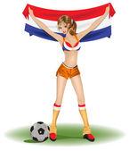 Fényképek Holland lány foci rajongó