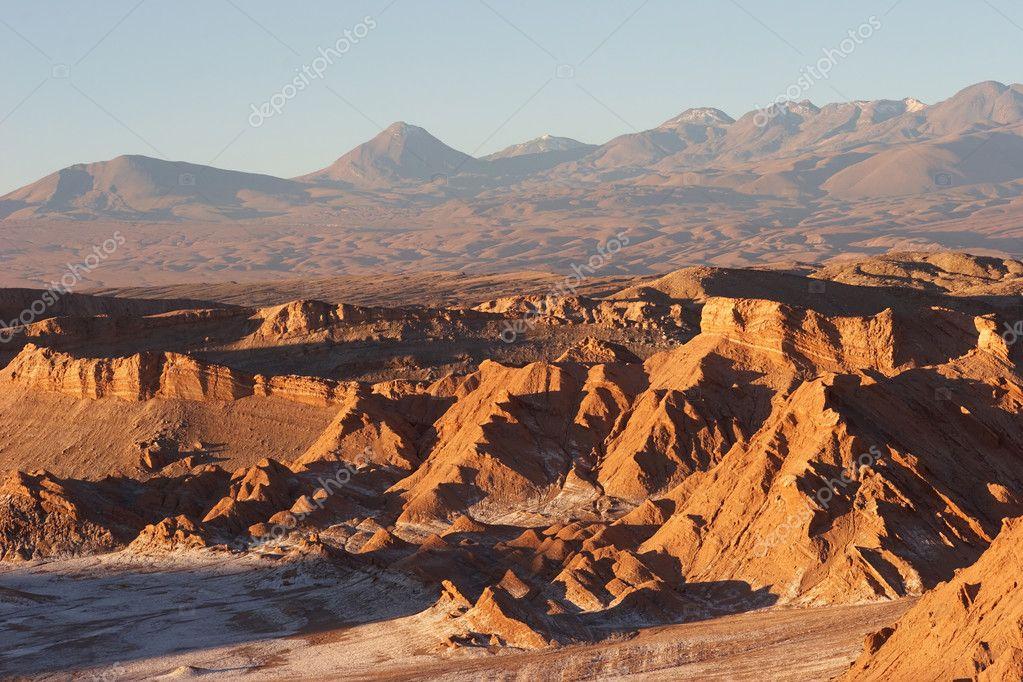 Atacama Desert in evening, Chile