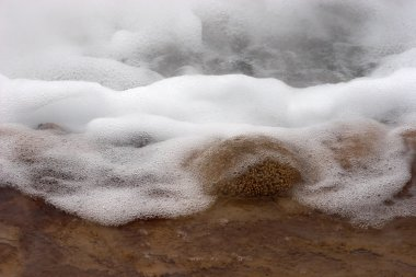 Boiling water in geyser hole, Chile