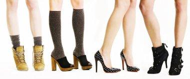 Legs in fashion footwear