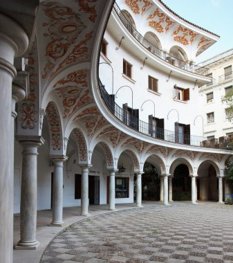 Sevilla`s courtyard