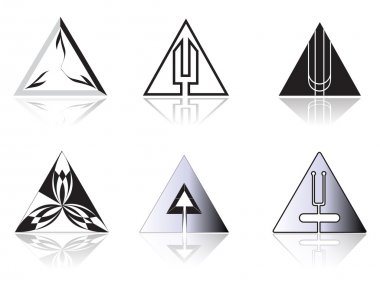 Set of corporate vector emblem templates