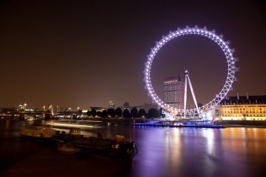 London Eye on River Thames.