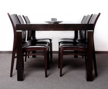 Modern wooden finished dining table