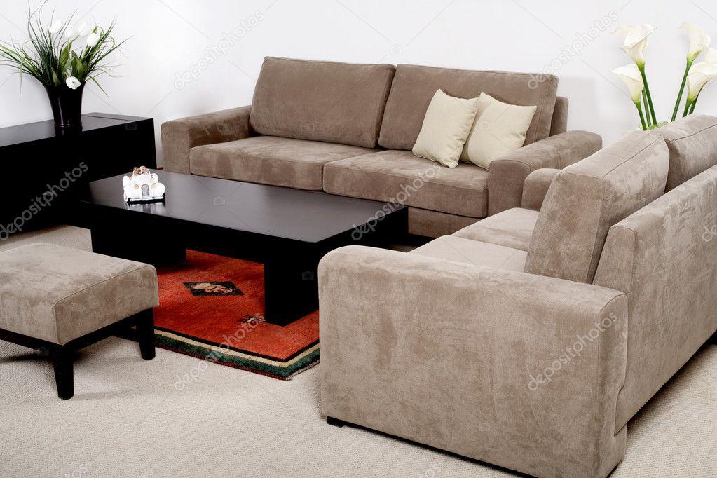 Klasick n bytek v modern m ob vac m pokoji stock for Sofas clasicos modernos