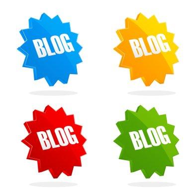 Set of blog icons