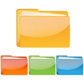 Fotografia set di icona cartella colorato