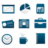 Photo Set of different business icon