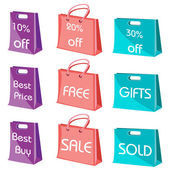 Fotografie Set of shopping bags with tags