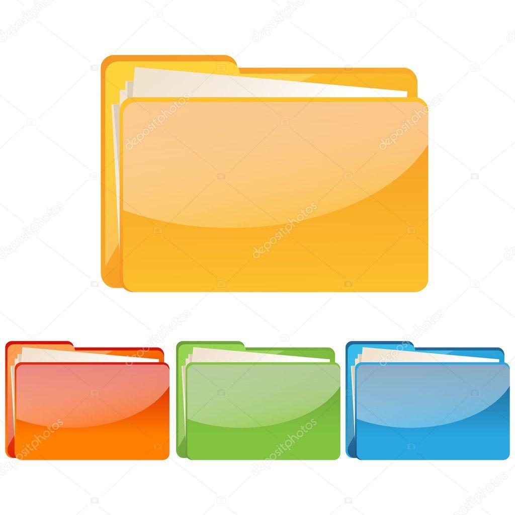 Set of colorful folder icon