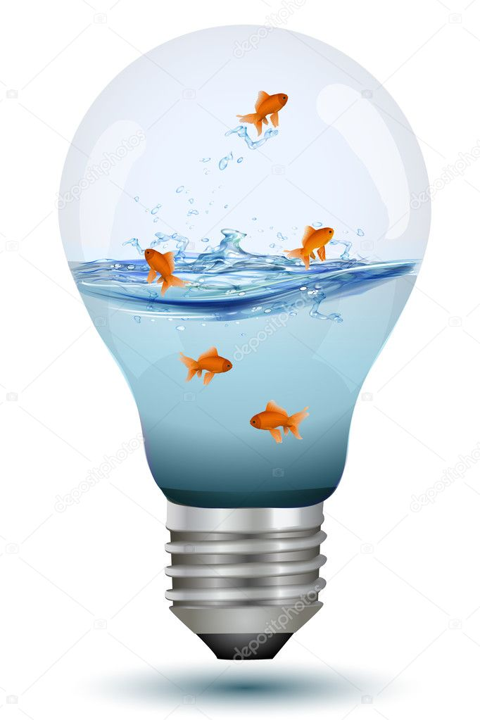 Bulb as fish tank stock photo get4net 4246527 for Fish stock tank