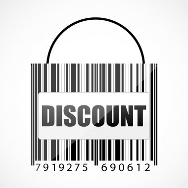 Barcode discount bag