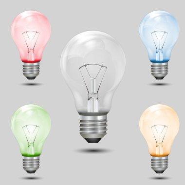 Multi colored bulbs