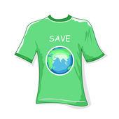 zachránit zemi tričko