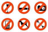 není dovoleno ikony