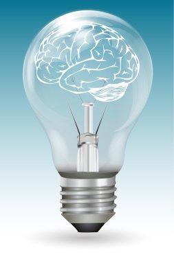 Brain in electric bulb