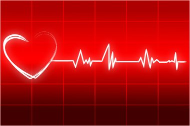Illustration of heart beats stock vector