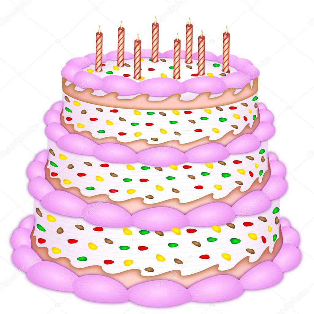 Decorative Birthday Cake Stock Photo Get4net 4522931