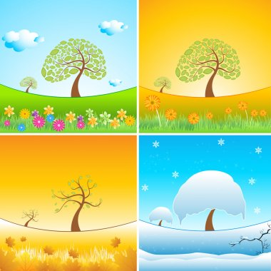 Illustration of types of weather stock vector