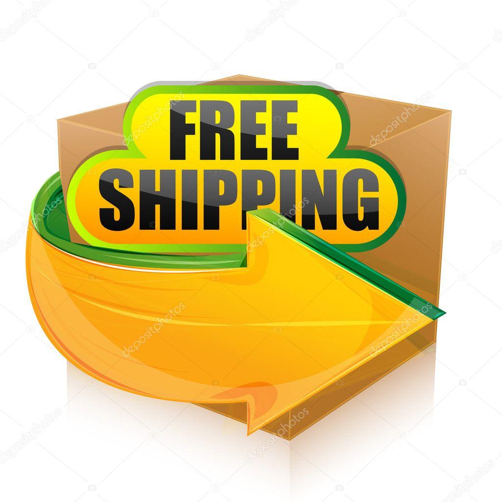 Illustration of free shipping