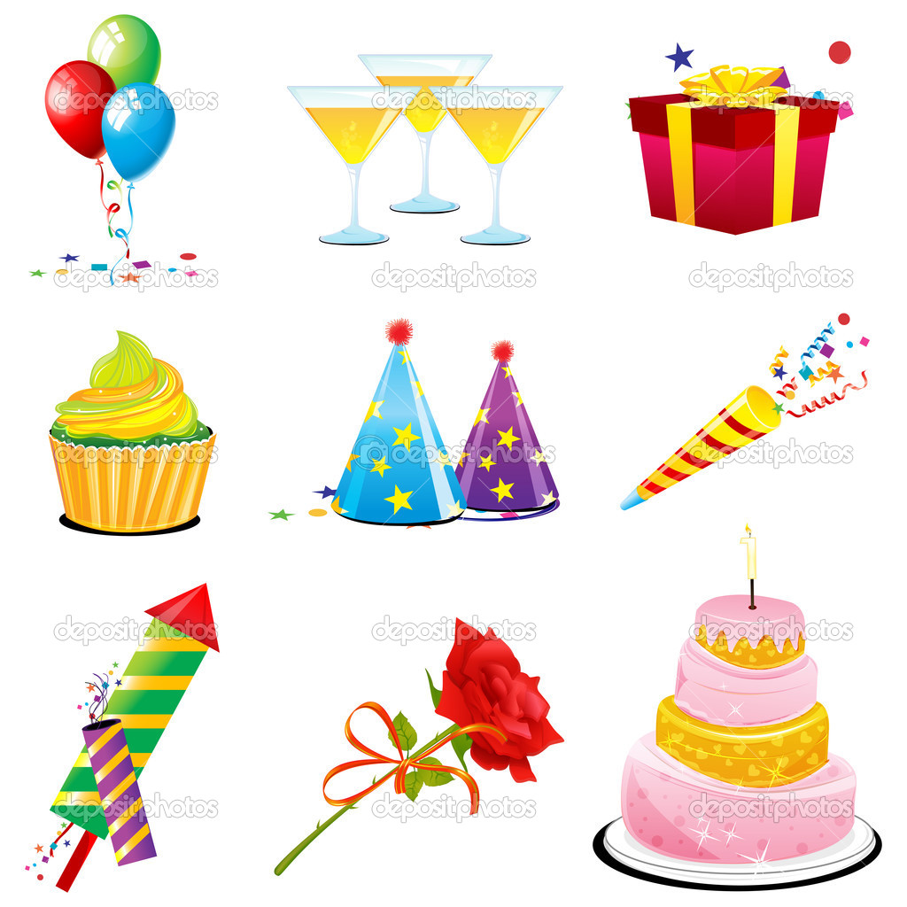Birthday Icons Stock Photo 169 Get4net 4582265