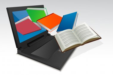 Books coming out from laptop