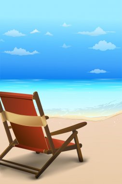 Chair by the beach