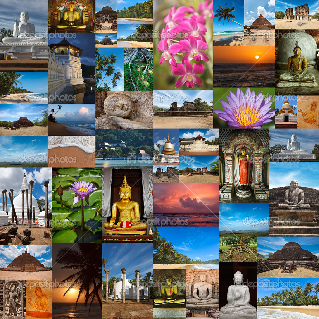 Collage of Sri Lanka images