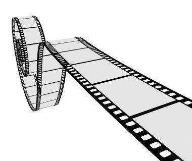 3D realistic film strip
