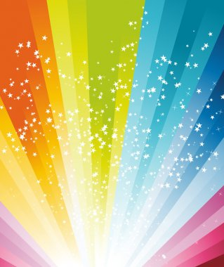 Abstract rainbow birthday banner