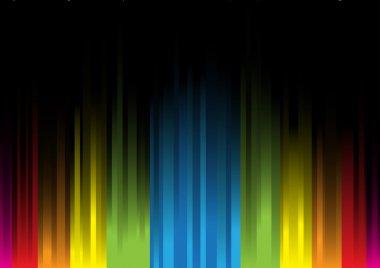 Iridescent light on a black background clip art vector