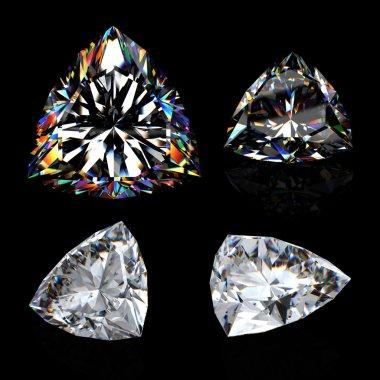3d brilliant cut diamond