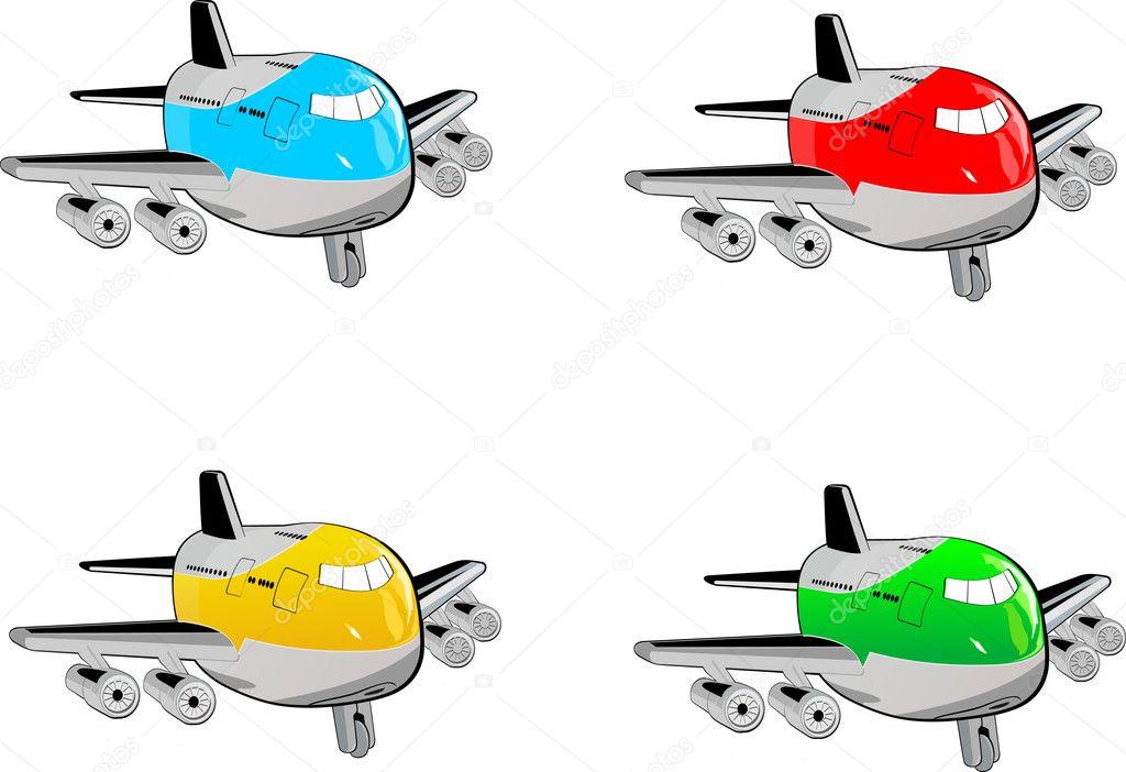 Dibujos animados de aviones — vector stock bienchen