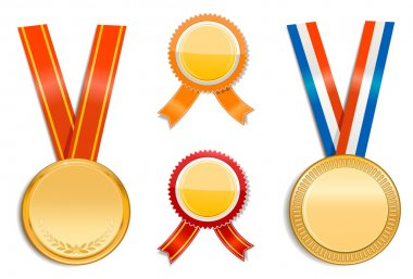 Gold medals and badges