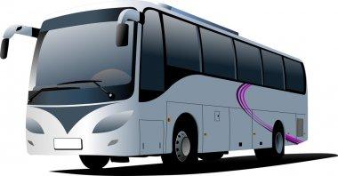 Blue city bus. Coach