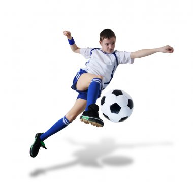 Boy with soccer ball, Footballer