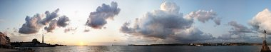 Sunset at sea Sevastopal, panorama