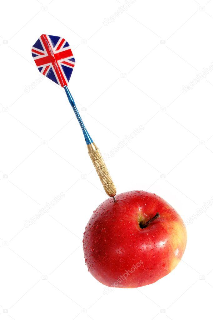 Dart And Apple Stock Photo C Aptyp Kok 2929733
