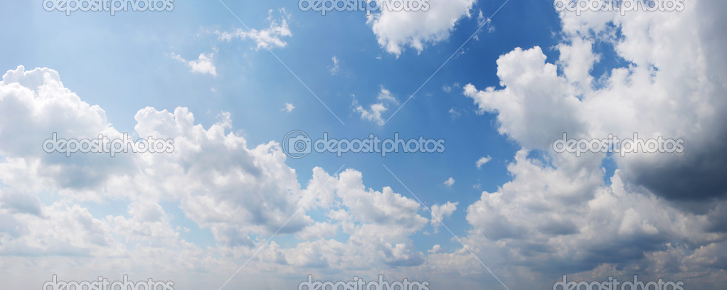 Panoramic view Cloudy sky
