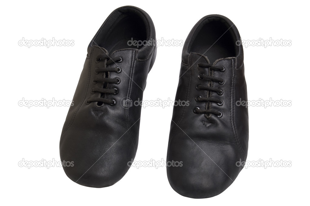 Men latin ballroom dancing black sateen old shoes