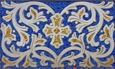 Detail of mosaic decoration of ortodox c